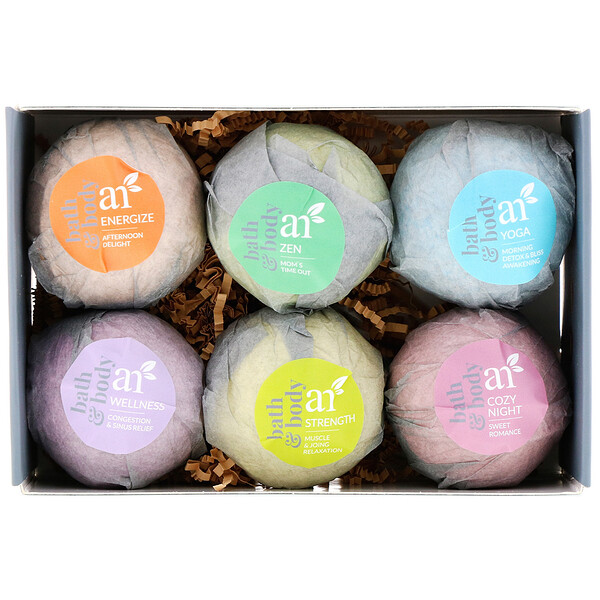 Artnaturals, Bath Bombs, 6 Bombs, 4 oz (113 g) Each