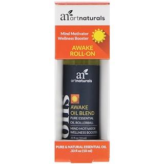 Artnaturals, アウェイクロールオン、.33 fl oz (10 ml)