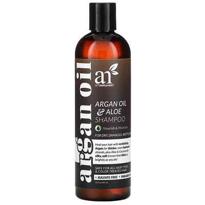 Купить Artnaturals Argan Oil & Aloe Shampoo, For Dry, Damaged, Brittle Hair, 12 fl oz (355 ml)