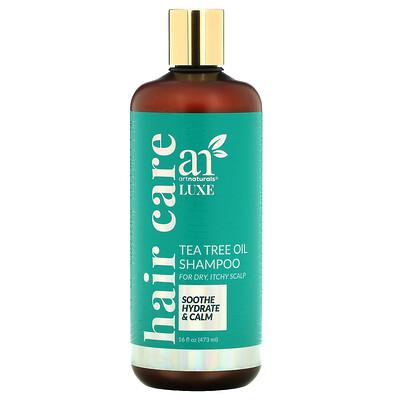 Artnaturals Luxe, Tea Tree Oil Shampoo, For Dry, Itchy Scalp, 16 fl oz (473 ml)