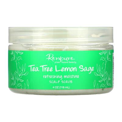 Renpure Tea Tree & Lemon Sage, Scalp Scrub, 4 oz (118 ml)