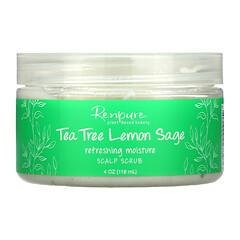 Renpure, 茶樹和檸檬鼠尾草,頭皮磨砂膏,4 盎司(118 毫升)