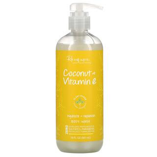 Renpure, Coconut & Vitamin E, Hydrate + Replenish Body Wash, 19 fl oz (561 ml)