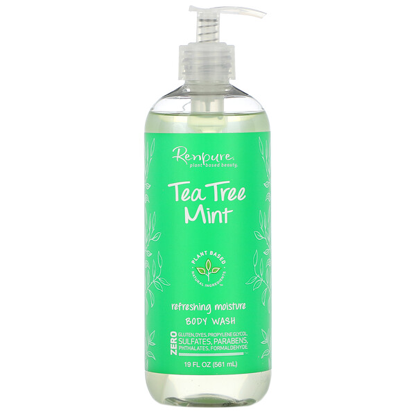 Renpure, Tea Tree Mint, Refreshing Moisture Body Wash, 19 fl oz (561 ml)