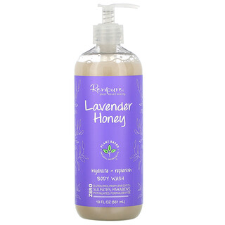 Renpure, Lavender Honey, Hydrate + Replenish Body Wash, 19 fl oz (561 ml)