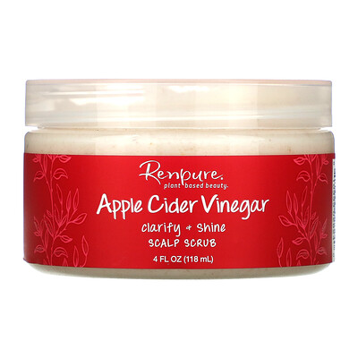 Renpure Apple Cider Vinegar, Scalp Scrub, 4 oz (118 ml)