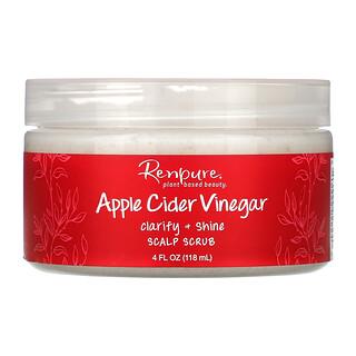 Renpure, مقشّر فروة الرأس بخل التفاح، 4 أونصات (118 مل)