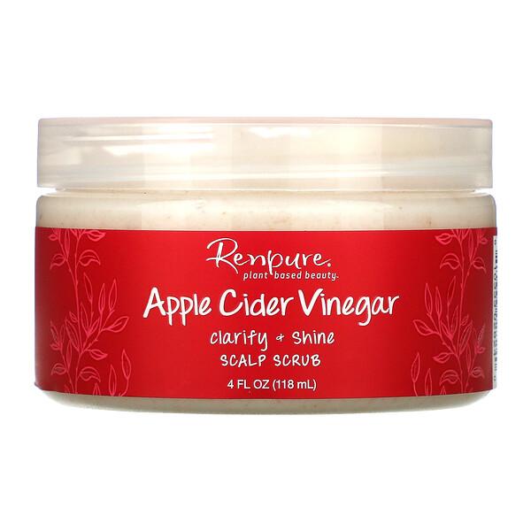 Renpure, Apple Cider Vinegar, Scalp Scrub, 4 oz (118 ml)