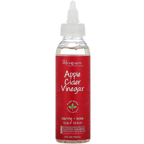 Renpure, Apple Cider Vinegar Scalp Serum, 4 fl oz (118 ml)