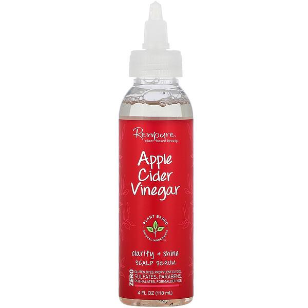 Renpure, Sérum para el cuero cabelludo de vinagre de sidra de manzana, 118ml (4oz.líq.)