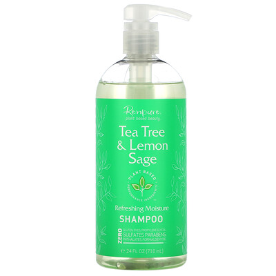 Renpure Tea Tree & Lemon Sage Shampoo, 24 fl oz (710 ml)