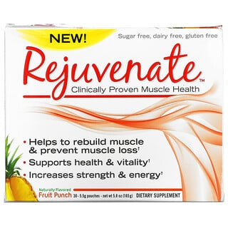 Rejuvenate, Clinically Proven Muscle Health, Fruit Punch, 30 Pouches, 0.19 oz (5.5 g) Each