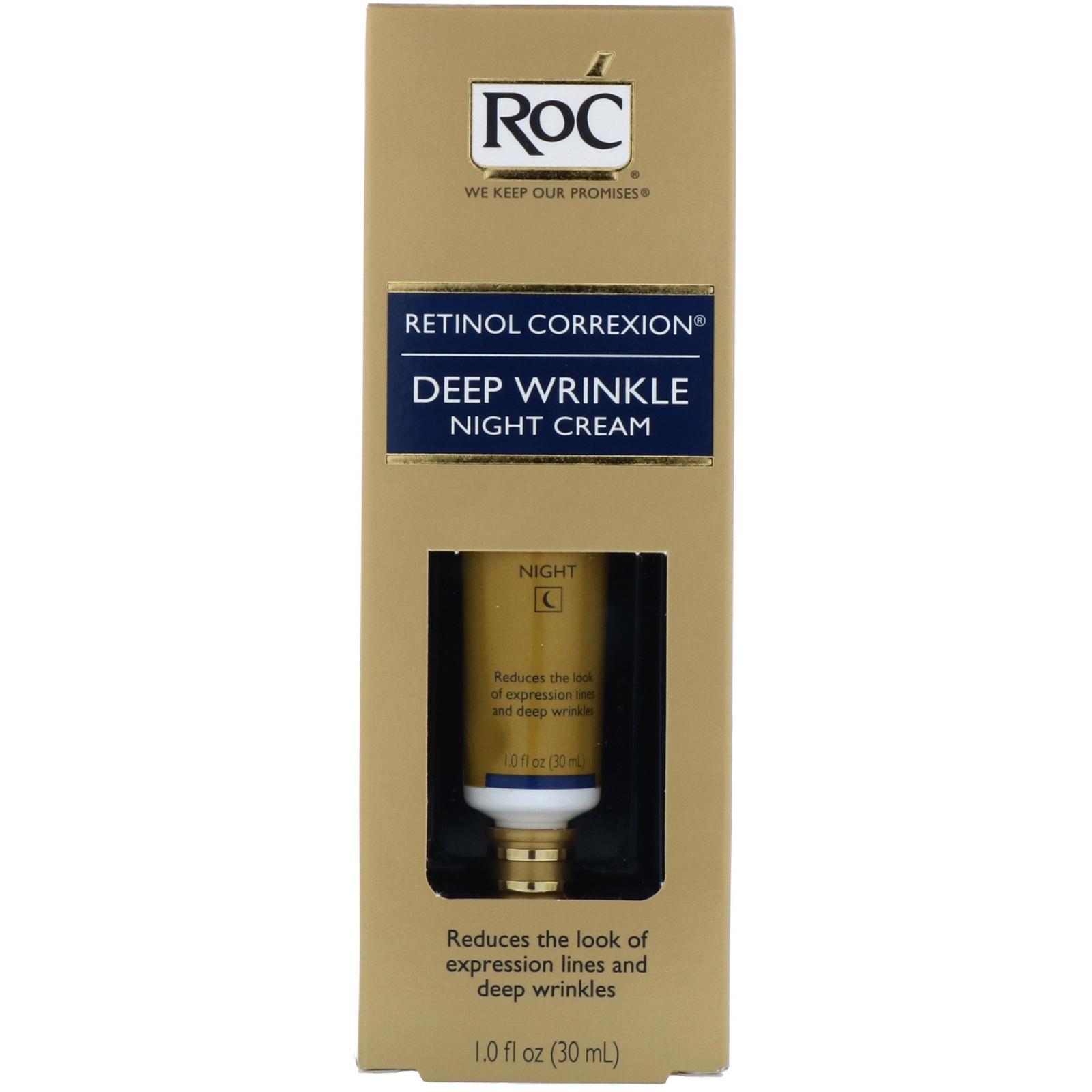 RoC, Retinol Correxion, Deep Wrinkle Night Cream, 1 0 fl oz