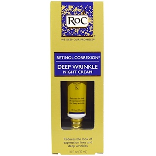 RoC, Retinol Correxion, ночной крем от глубоких морщин, 1 жидк. унц. (30 мл)