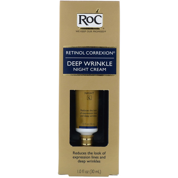 RoC, Retinol Correxion, Deep Wrinkle Night Cream, 1.0 fl oz (30 ml)