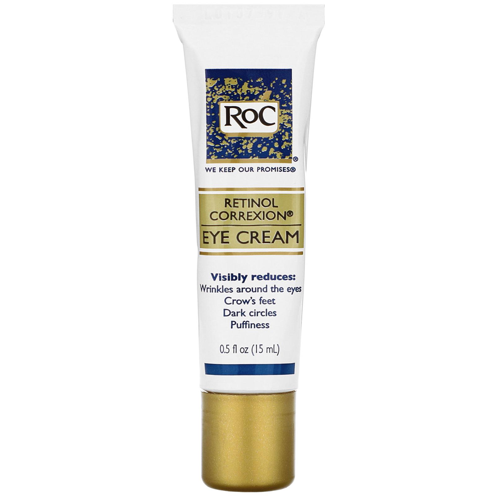 Roc Retinol Correxion Eye Cream 0 5 Fl Oz 15 Ml Iherb