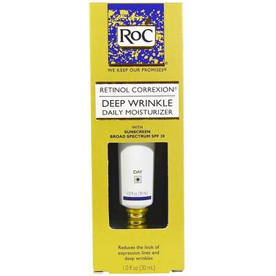 Retinol Correxion, ежедневный увлажнитель от глубоких морщин, фактор защиты SPF 30, 1 жидк. унц. (30 мл)