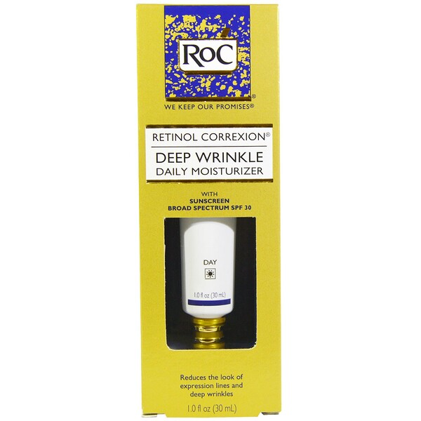 RoC, Retinol Correxion, Deep Wrinkle Daily Moisturizer, SPF 30, 1.0 fl oz (30 ml)