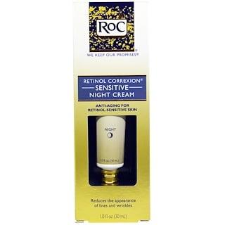 RoC, Retinol Correxion, Sensitive Night Cream, 1.0 fl oz (30 ml)