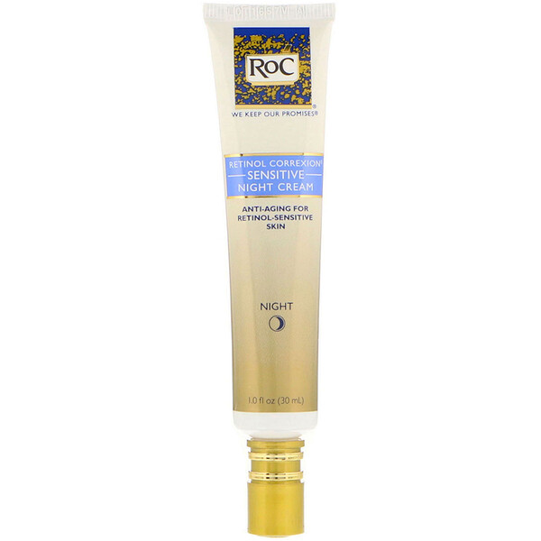 RoC, Retinol Correxion, Sensitive Night Cream, 1.0 fl oz (30 ml)