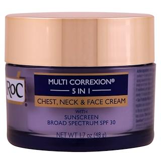 RoC, Multiconexión 5 en 1, crema para la cara, el cuello y el pecho, 1.7 oz (48 g)