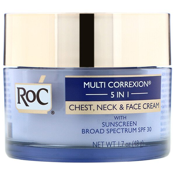 RoC, Multi Correxion 5 in 1, Chest, Neck & Face Cream, 1.7 oz (48 g)