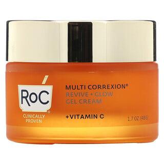 RoC, Multi Correxion, 리바이브 + 글로우, 젤 크림 + 비타민C, 48g(1.7oz)