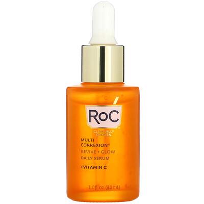 Купить RoC Multi Correxion, Revive + Glow, Daily Serum + Vitamin C, 1 fl oz (30 ml)