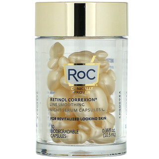 RoC, Retinol Correxion Line Smoothing Night Serum Capsules, 30 Biodegradable Capsules