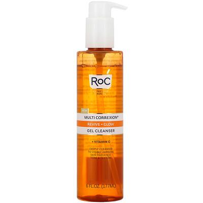 Купить RoC Multi Correxion, Revive + Glow Gel Cleanser + Vitamin C, 6 fl oz (177 ml)