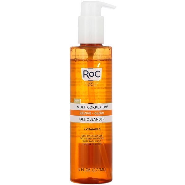 Multi Correxion, Revive + Glow Gel Cleanser + Vitamin C, 6 fl oz (177 ml)