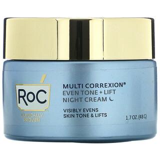RoC, Multi Correxion, Even Tone + Lift, 5 In 1 Night Cream, 1.7 oz (48 g)