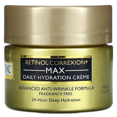 RoC Retinol Correxion, Max Hydration Cream, Fragrance Free, 1.7 oz (48 g)