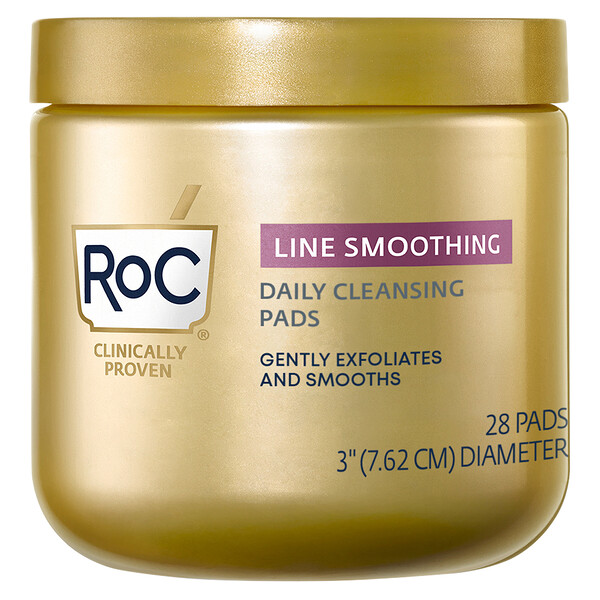 RoC, Line Smoothing Daily Cleansing Pads, 28 Count