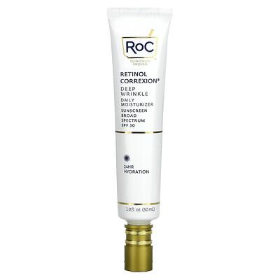 RoC Retinol Correxion, Deep Wrinkle Daily Moisturizer, SPF 30, 1 fl oz (30 ml)
