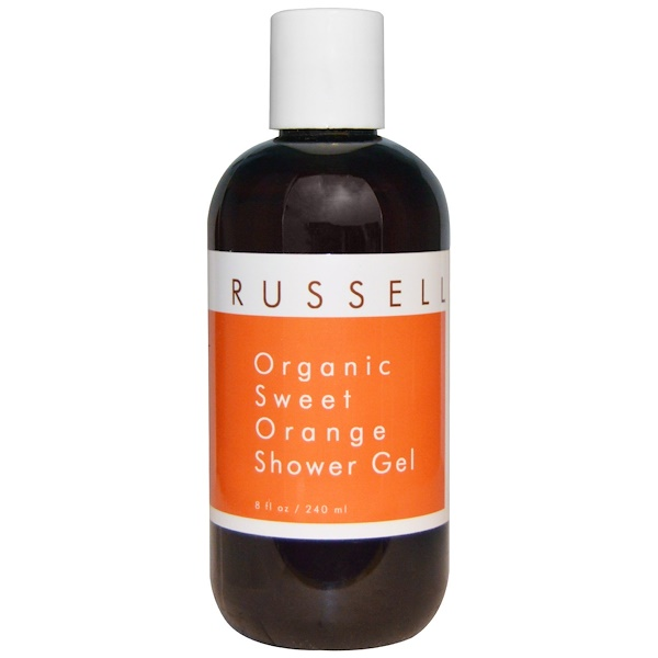 Russell Organics, Organic Sweet Orange Shower Gel, 8 fl oz (240 ml) (Discontinued Item)