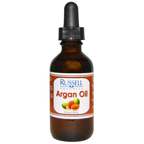 Russell Organics, Аргановое масло, 2 жидких унции (60 мл) (Discontinued Item)