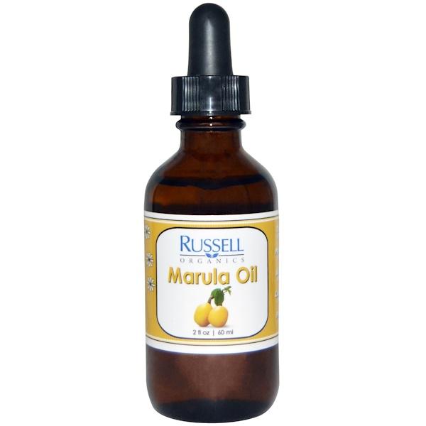 Russell Organics, Marula Oil, 2 fl oz (60 ml) (Discontinued Item)
