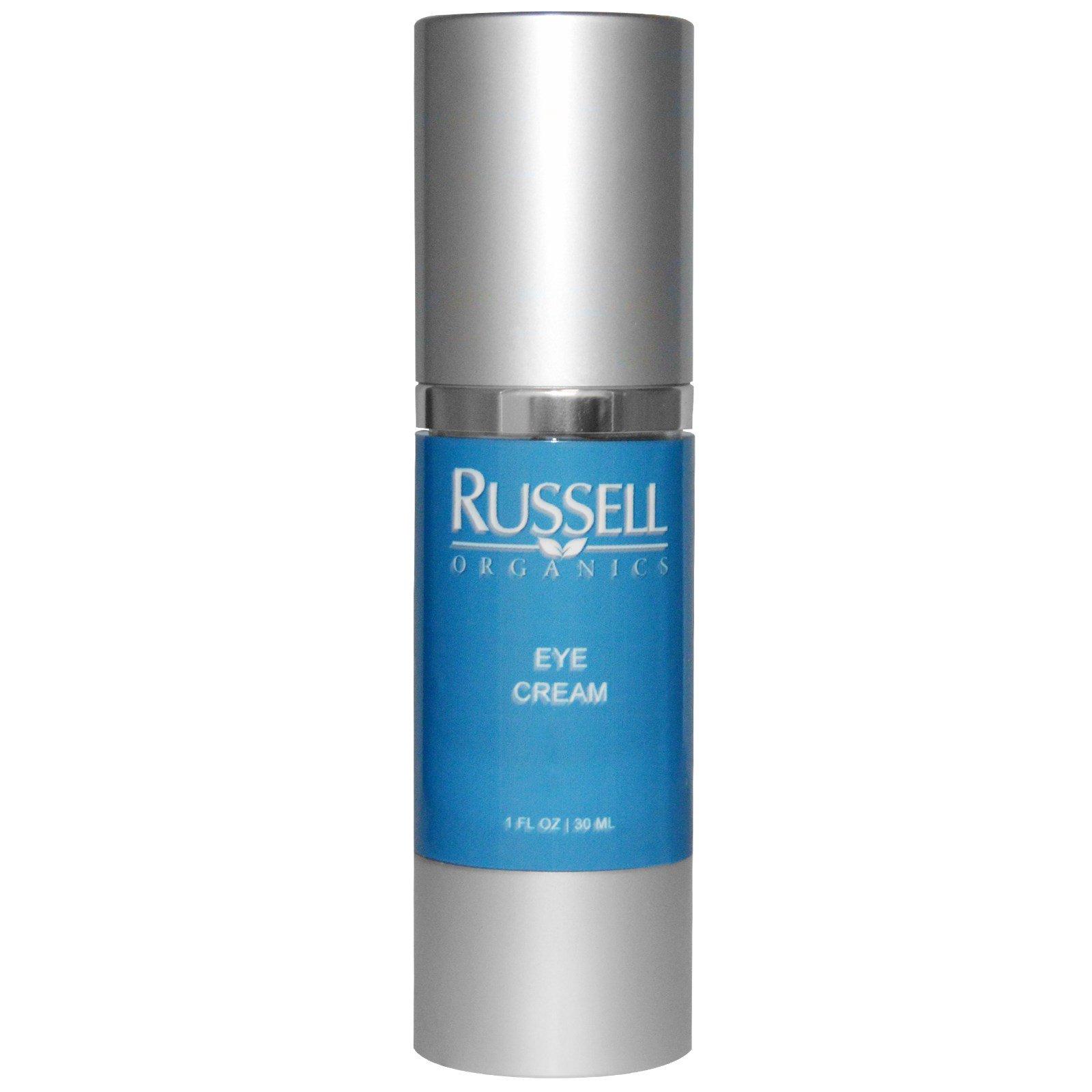 Russell Organics, Крем для кожи вокруг глаз, 1 жидка унция (30 мл)