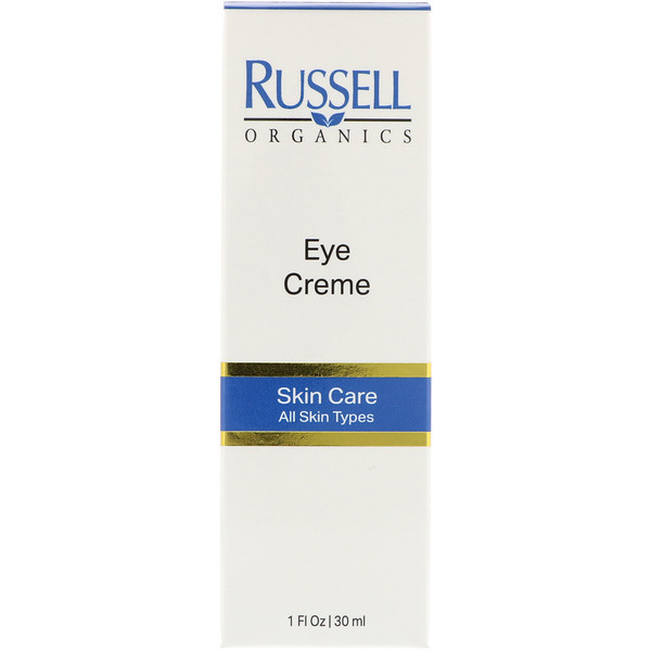 :Russell Organics, Eye Cream, 1 fl oz (30 ml)