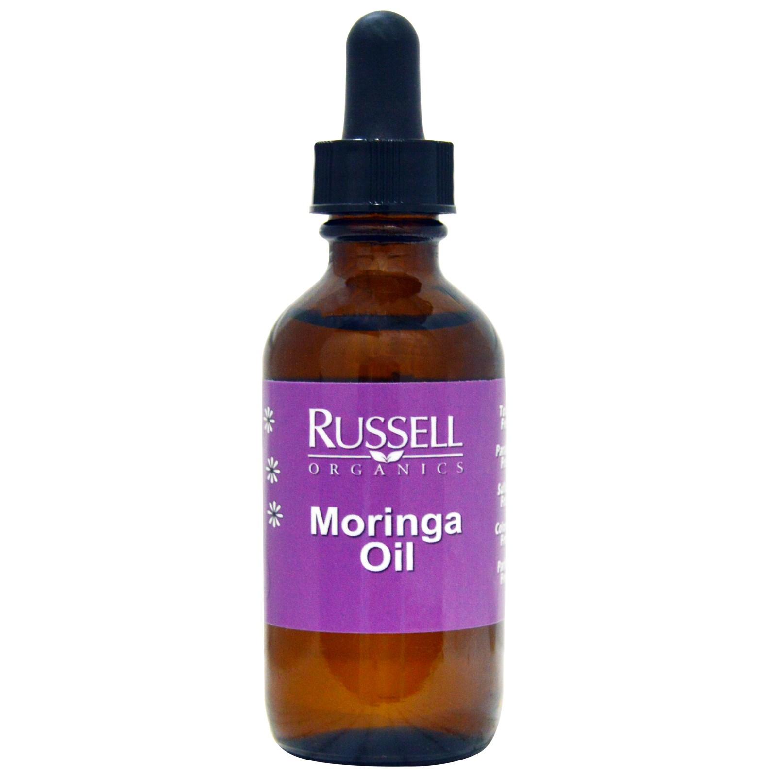 Russell Organics, Масло моринги, 2 унции (60 мл)