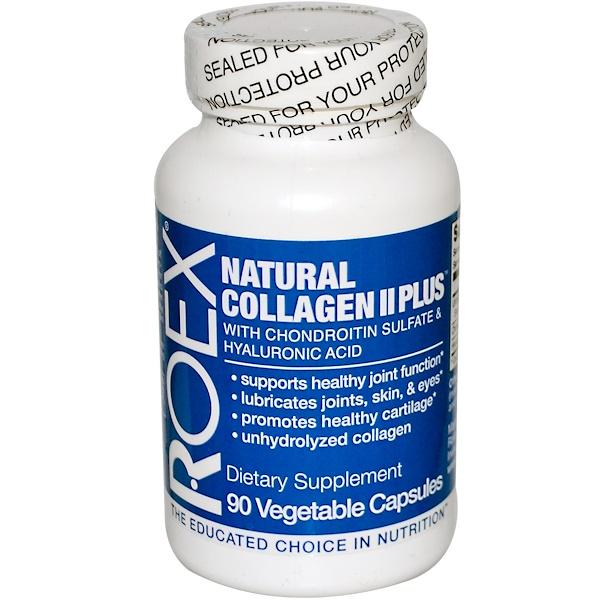 Roex, Inc., Natural Collagen II Plus, 90 Veggie Caps (Discontinued Item)