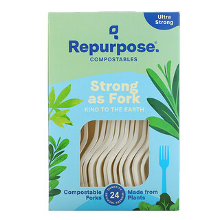 Repurpose, Ultra Strong, Compostable Forks, 24 Count