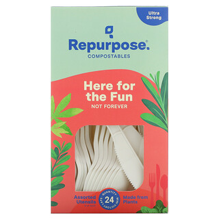 Repurpose, Ultra Strong, Assorted Utensils, 24 Count