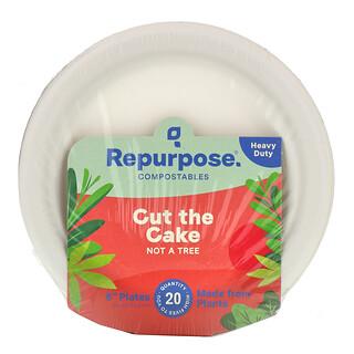 "Repurpose, Heavy Duty, 6"" Plates, 20 Count"