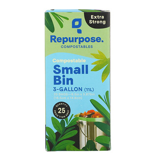 Repurpose, Extra Strong, 3 Gallon Small Bin Bags, 25 Count