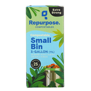 Repurpose, Extra Strong, 3 Gallon Small Bin Bags, 25 Count отзывы