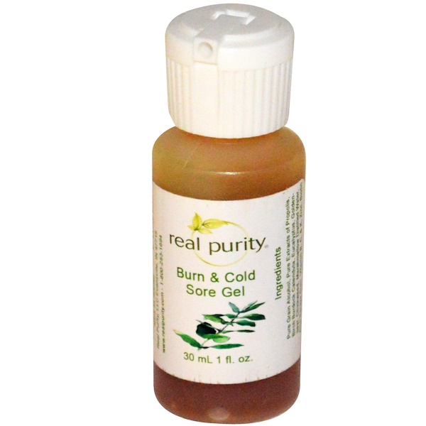 Real Purity, Burn & Cold Sore Gel, 1 fl oz (30 ml) (Discontinued Item)