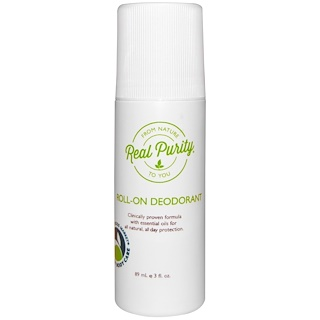 Real Purity, Roll-On Deodorant, 3 fl oz (89 ml)