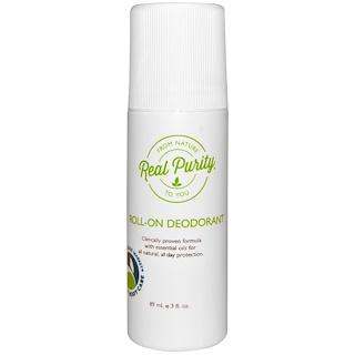 Real Purity, Roll-On Deodorant, 3 fl oz (89 ml)